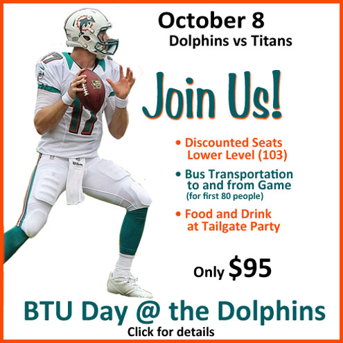 Join US at the Dolphins
